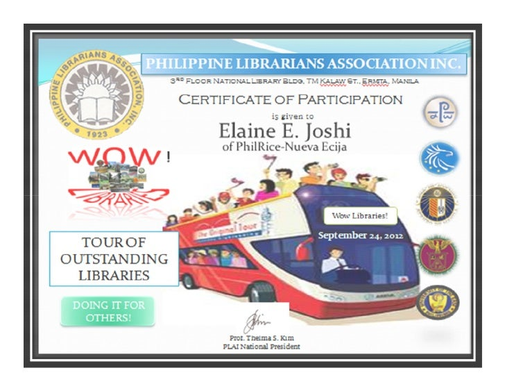 Wow libraries, philippines_certificate