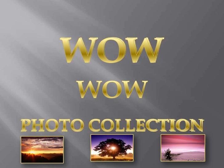 WOW<br />WOW<br />PHOTO COLLECTION<br />
