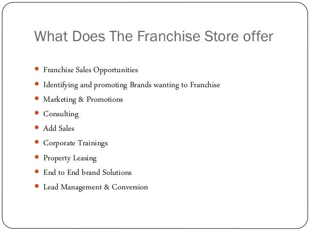 Franchise connect business associate proposal advantages support 8 what does the franchise thecheapjerseys Gallery