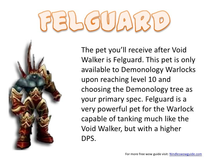 wo w warlock pet guide rh pt slideshare net WoW Warlock Art Different Minions