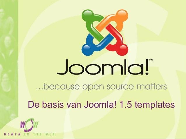 De basis van Joomla! 1.5 templates