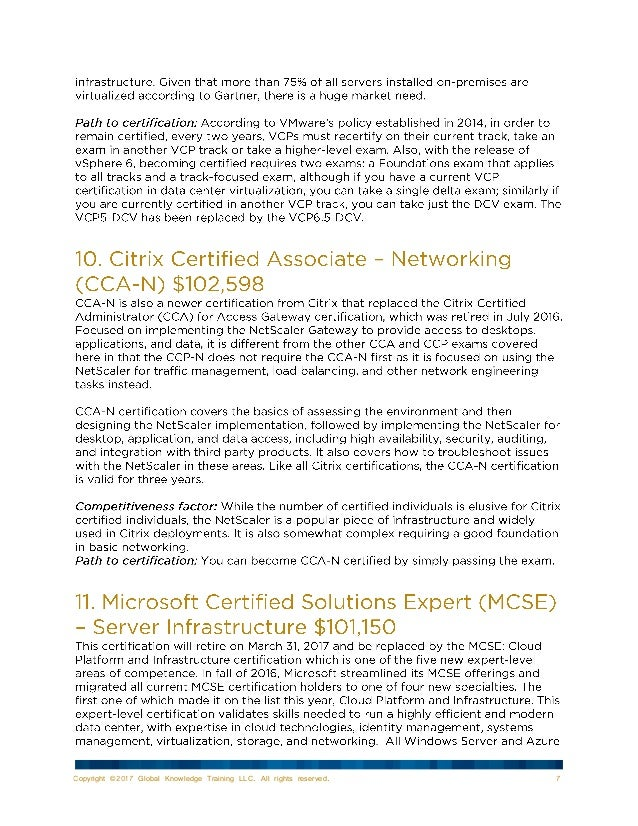 15 Top Paying It Certifications For 2017