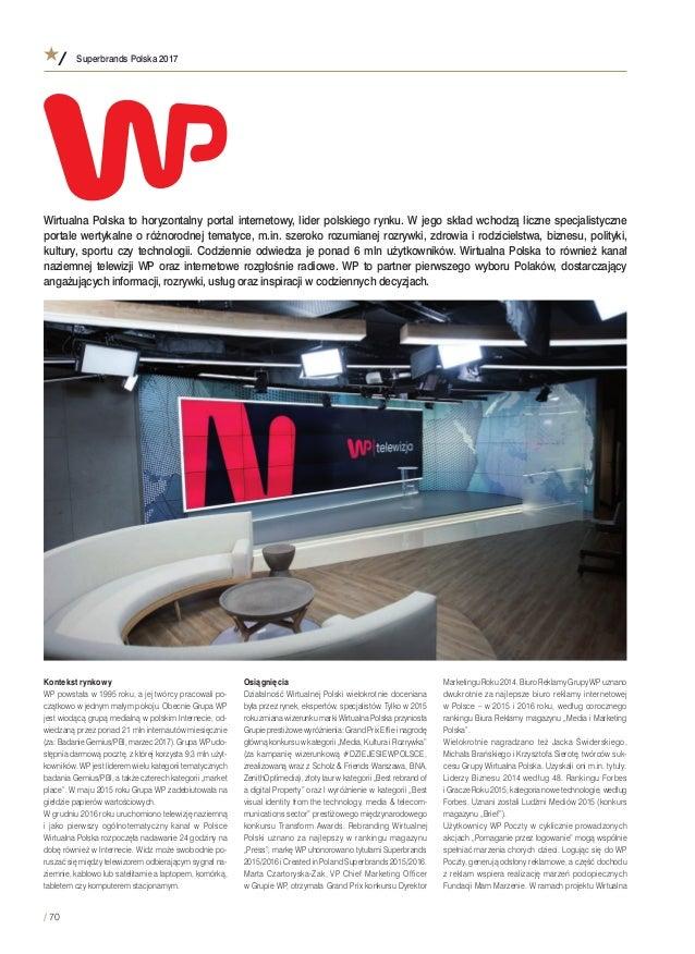bef29cb28b Superbrands Polska 2017   70 Kontekst rynkowy WP powstała w 1995 roku