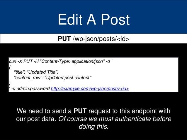 Curl Post Request Json