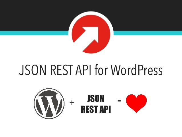 JSON REST API for WordPress  @tlovett12  + JSON  REST API  =