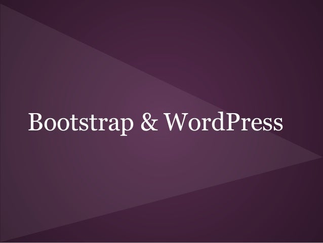Bootstrap & WordPress