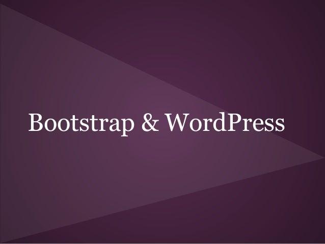 Bootstrap & WordPress