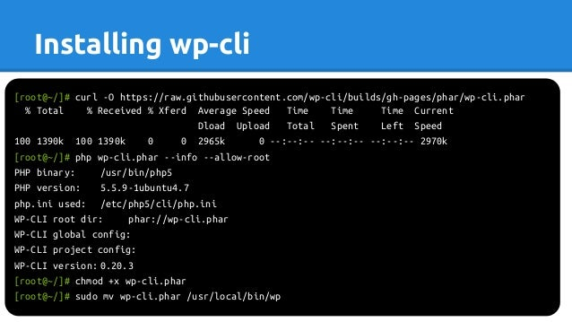 wp-cli slideshare - 웹