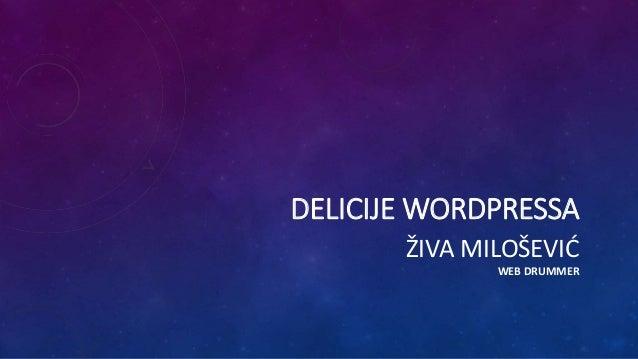 DELICIJE WORDPRESSA ŽIVA MILOŠEVIĆ WEB DRUMMER