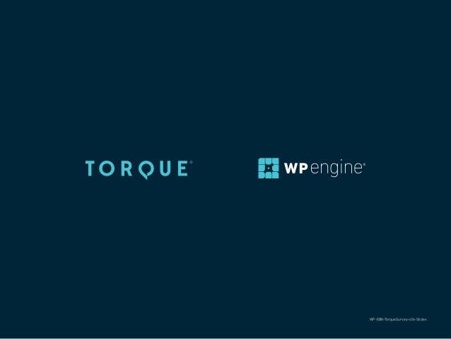 24 THE WORDPRESS INDUSTRY SURVEY 2016 TORQUE | WP ENGINE @thetorquemag WP-EBK-TorqueSurvey-v06-Slides