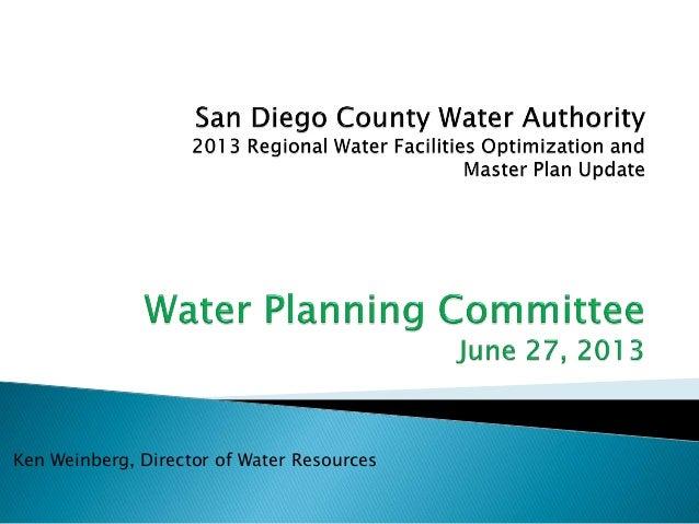 Ken Weinberg, Director of Water Resources