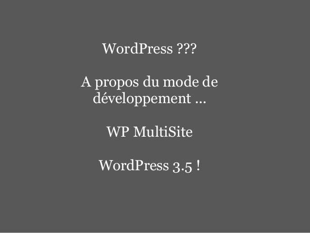 WordPress 3.5 Release Celebration (Geneva Meetup) Slide 2