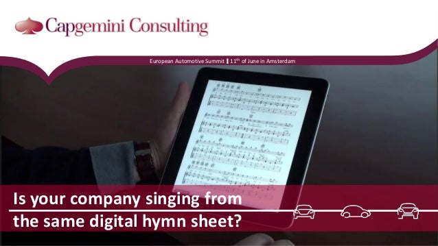 Is your company singing from the same digital hymn sheet? European Automotive Summit 11th of June in Amsterdam