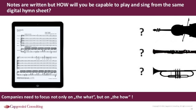 Copyright © 2015 Capgemini Consulting. All rights reserved. 18 Notes are written but HOW will you be capable to play and s...