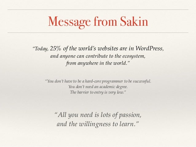 Chakkrisn Menn Talawat ❖ Had developed his own CMS since 2004 ❖ Tried a lot of CMSs such as Drupal, TextPattern, Mambo, Ty...