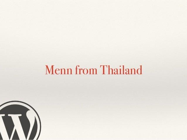 Chakkrisn Menn Talawat ❖ Now he is the owner and co-owner of ❖ http://mennstudio.com ❖ http://tigeridea.com ❖ http://vaiva...