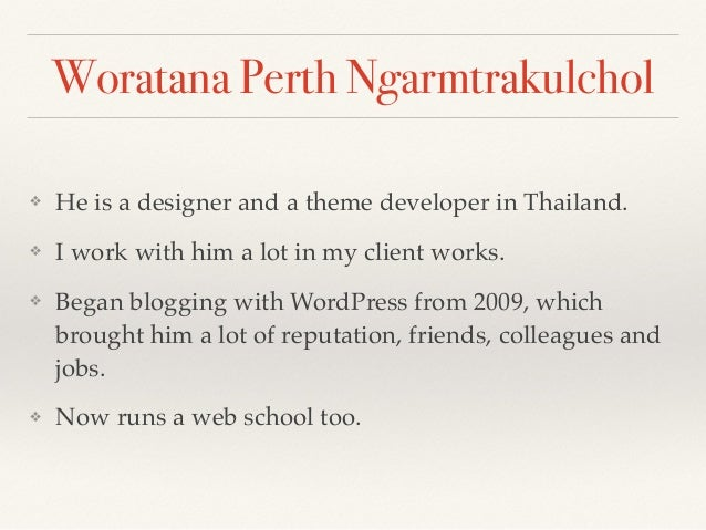 """Message from Perth """"WordPress is quite a versatile platform for website development. Please try it."""""""