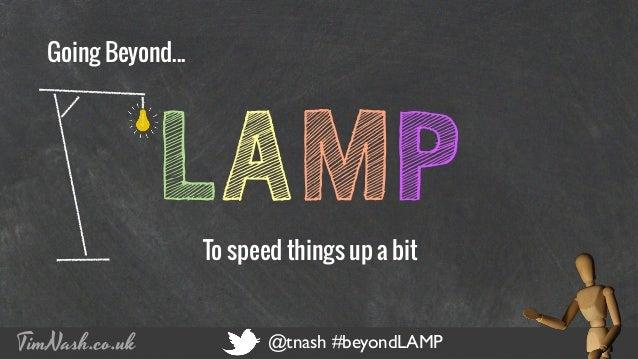 COMPANY NAME PRESENTATION TITLE 12 - 12 - 2012 TimNash.co.uk @tnash #beyondLAMP LAMPTo speed things up a bit Going Beyond....