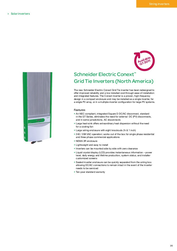 Schneider Electric Renewable Energies Catalog