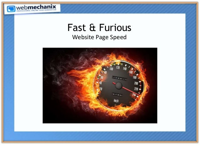 Fast & Furious Website Page Speed