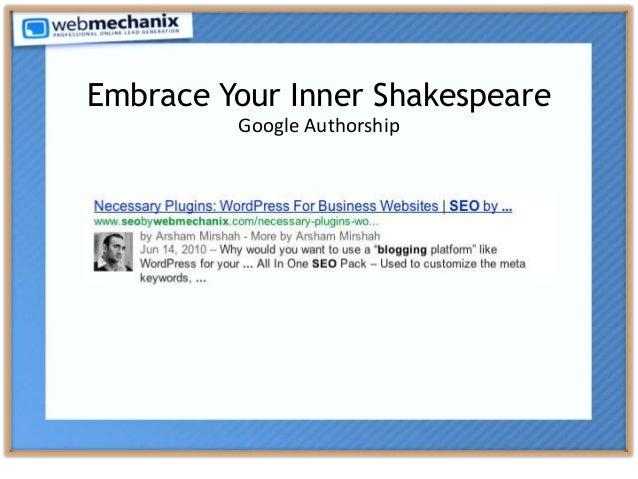 Embrace Your Inner Shakespeare Google Authorship