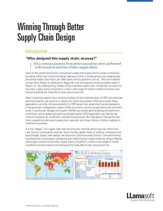 """Winning Through Better Supply Chain Design Introduction """"Who designed this supply chain, anyway?""""  It's a common questio..."""