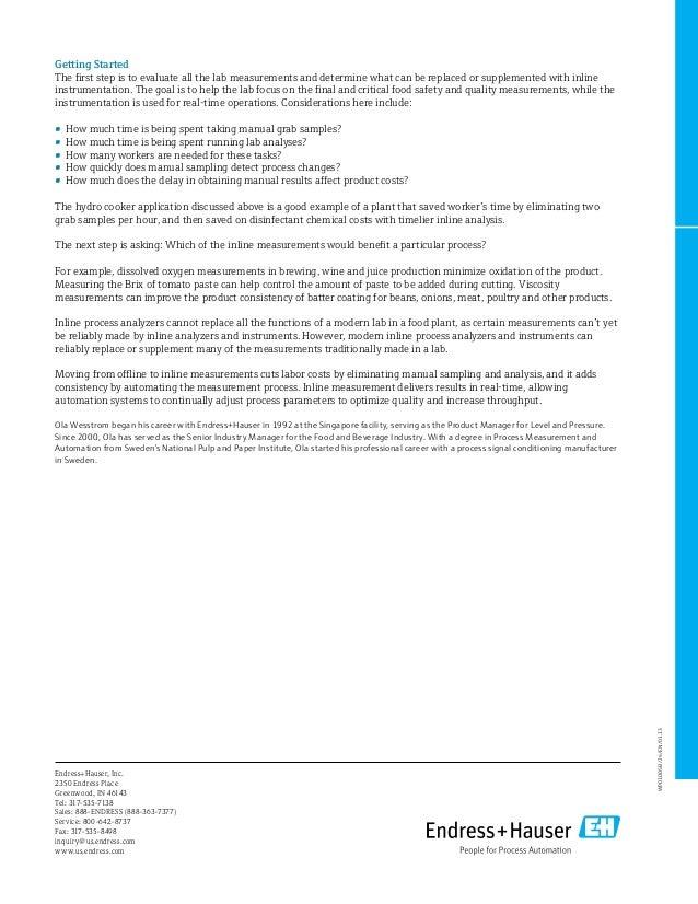 E+H - inline quality measurement
