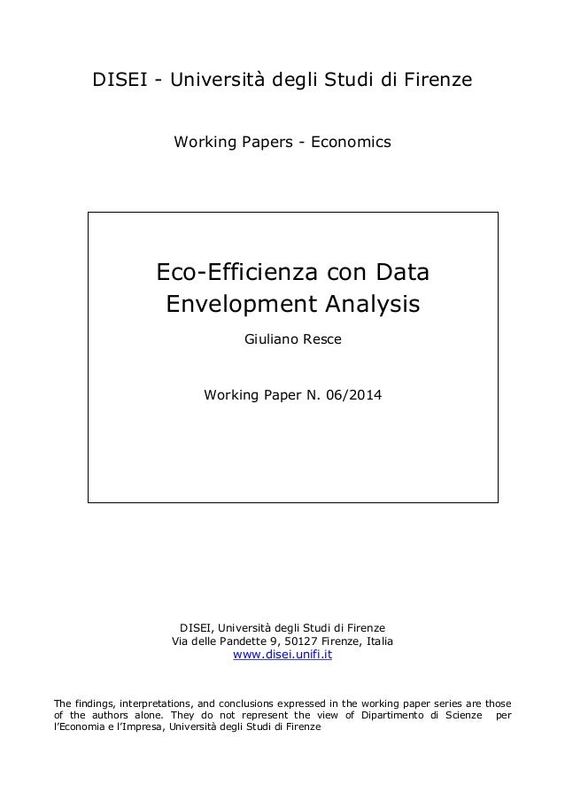What is Data Envelopment Analysis