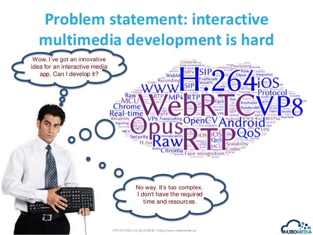 Problem statement: interactive multimedia development is hard Wow, I've got an innovative idea for an interactive media ap...