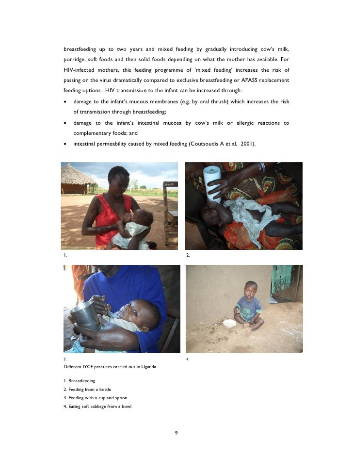 who guidelines to infant feeding hiv