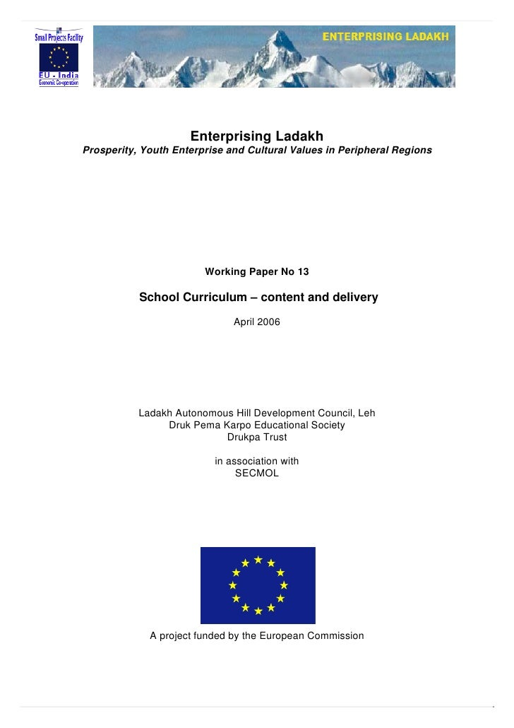 Enterprising Ladakh Prosperity, Youth Enterprise and Cultural Values in Peripheral Regions                             Wor...