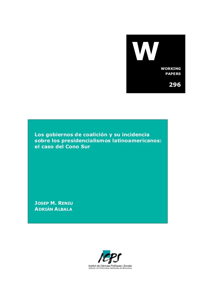 W         WORKING                                                PAPERS                                                 29...
