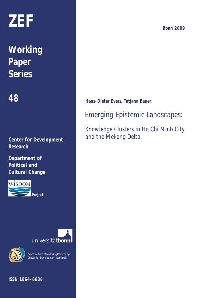 ZEF                                                                           Bonn 2009    Working Paper Series  48       ...