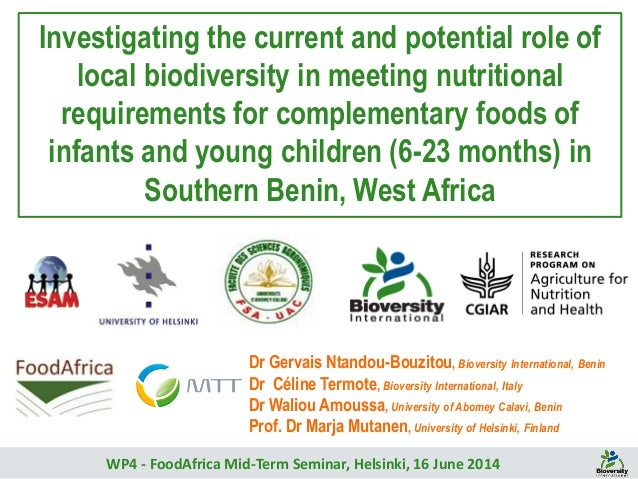 Investigating the current and potential role of local biodiversity in meeting nutritional requirements for complementary f...