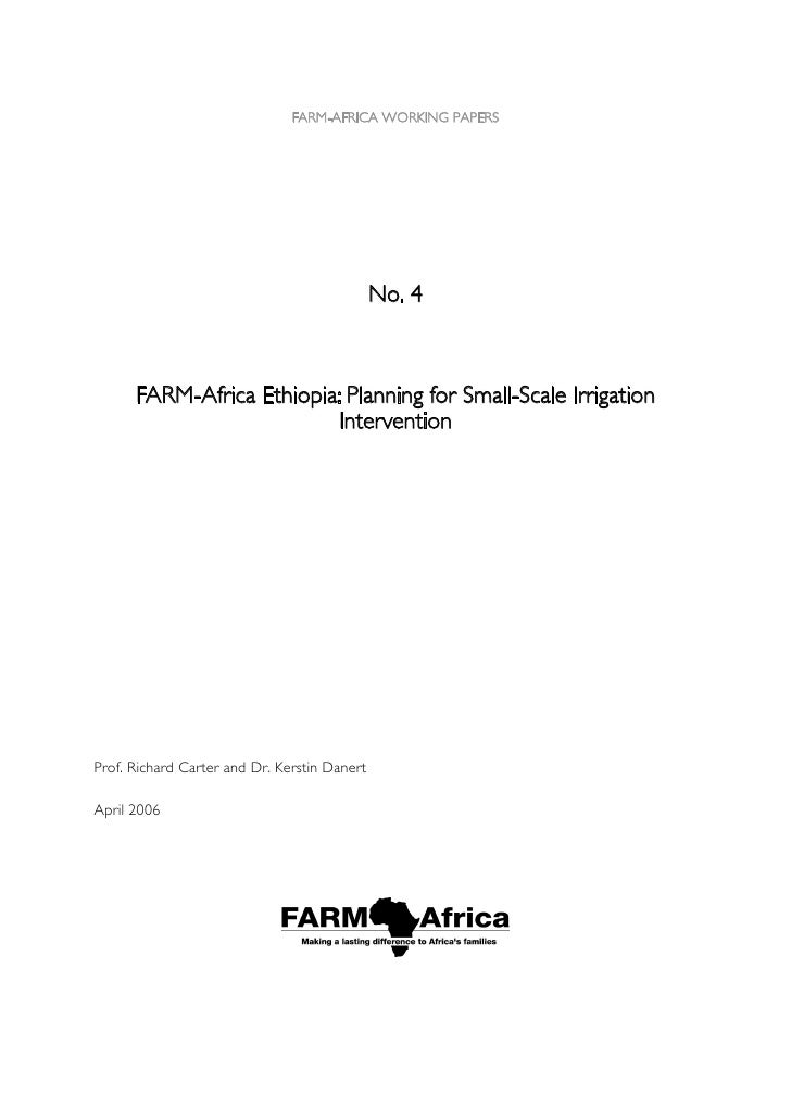thesis on small scale irrigation A thesis submitted to the school of graduate studies of addis ababa university in time through increasing the number of large, medium and small scale irrigation schemes in addition managed small-scale irrigation water schemes as viable alternative to privatization and state ownership of the.