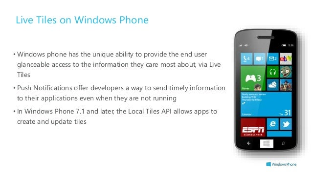 Windows phone 7 live tiles not updating