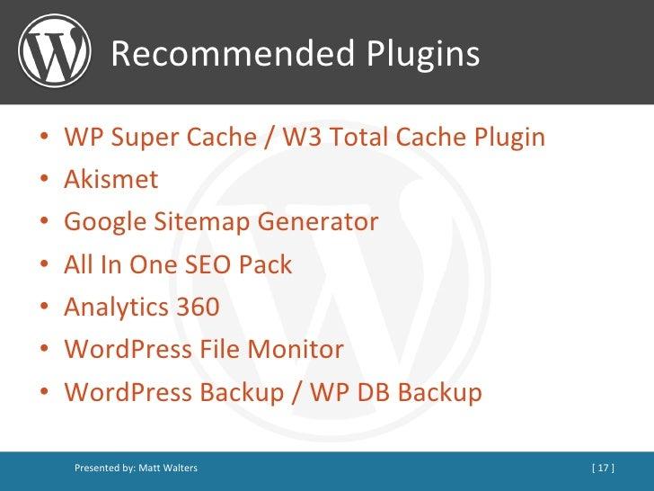WordPress as a CMS v2 slideshare - 웹