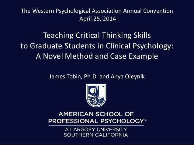 Critical thinking application paper psychology