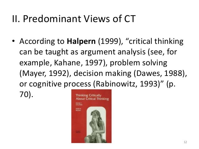 Teaching and assessing critical thinking skills for argument analysis in psychology