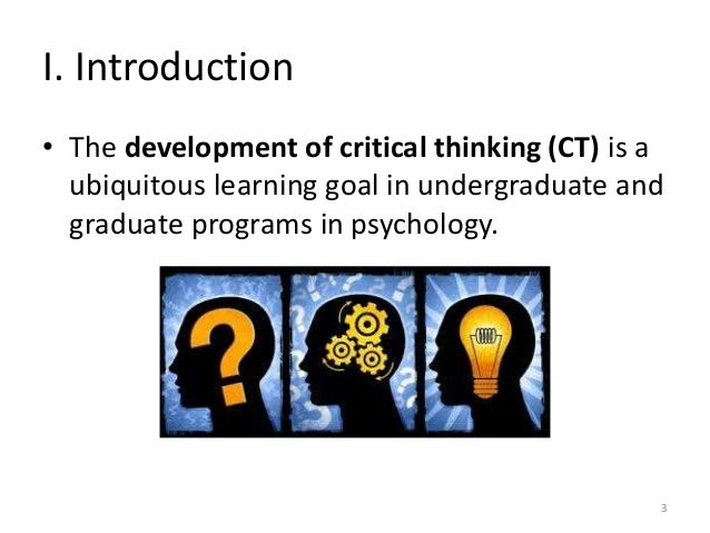 critical thinking activities for the teaching of psychology As a teacher, you know that critical thinking is central to a student's lifelong success in the classroom & beyond but how do you teach it.