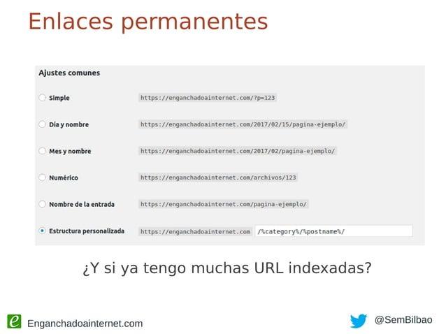 Enganchadoainternet.com @SemBilbao Trampas de WordPress