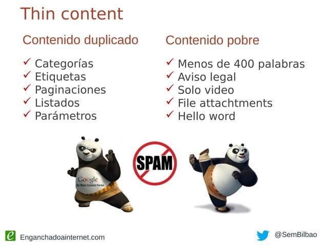 """Enganchadoainternet.com @SemBilbao Categorías Pocos post por categoría: """"no index"""""""