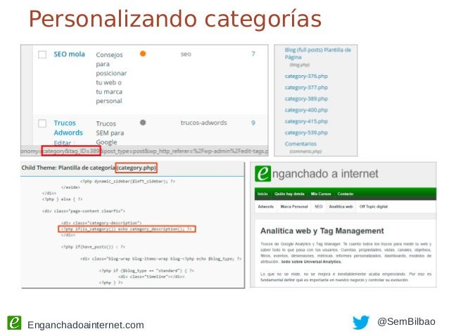 Enganchadoainternet.com @SemBilbao Código a mano Justo antes de </head> en header.php