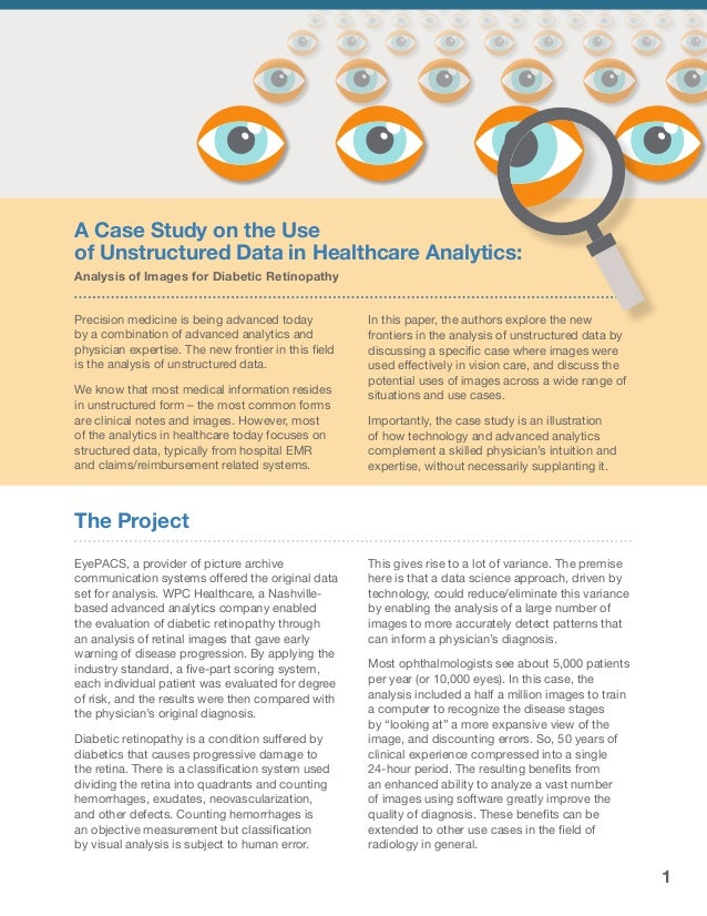 Case Study: Advanced analytics in healthcare using unstructured data