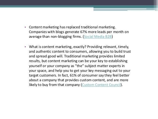 Developing a Content Marketing Strategy for Your Business Slide 3