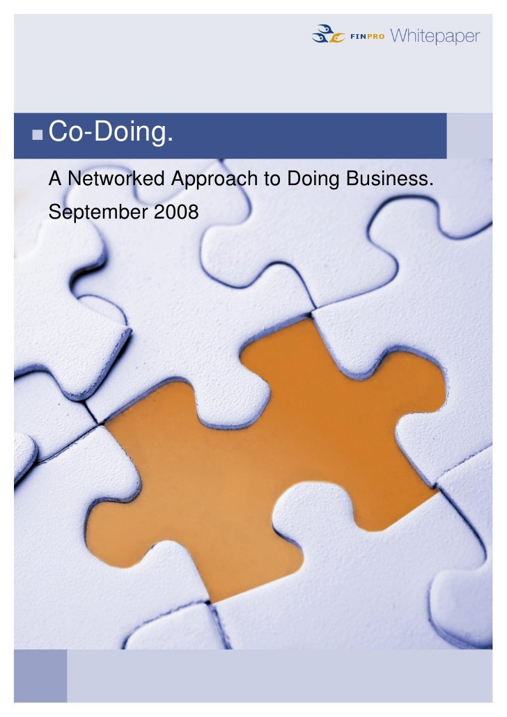 Co-Doing. A Networked Approach to Doing Business. September 2008