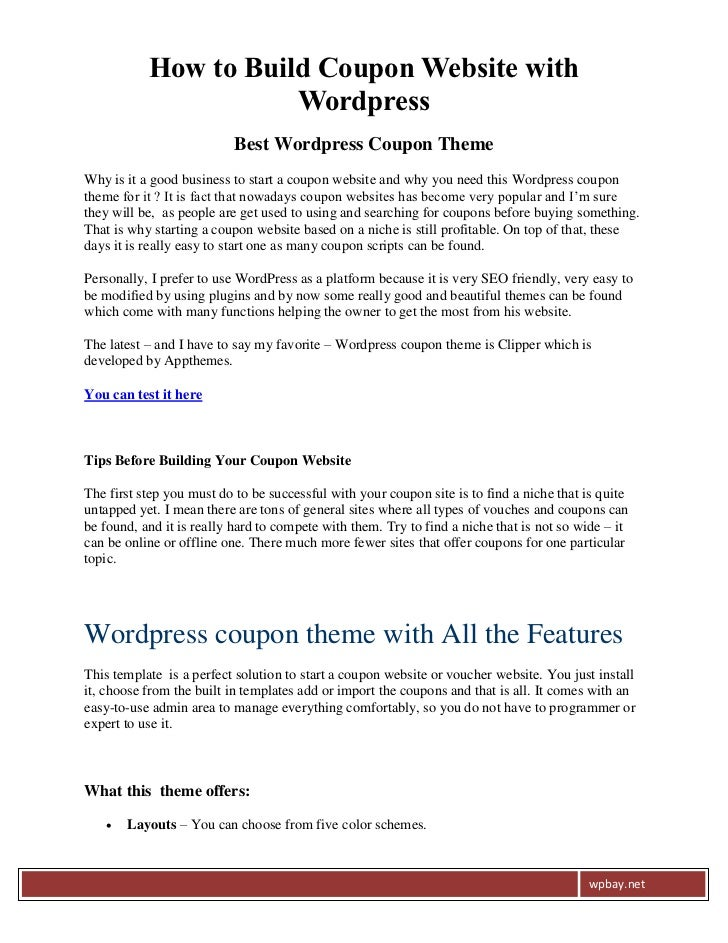 How to Build Coupon Website with                      Wordpress                          Best Wordpress Coupon ThemeWhy is...