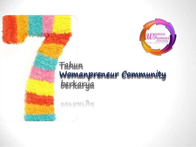 Tahun Womanpreneur Community berkarya