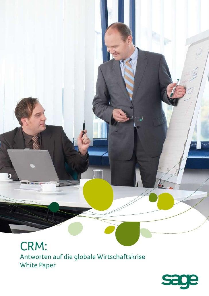 CRM:Antworten auf die globale WirtschaftskriseWhite Paper