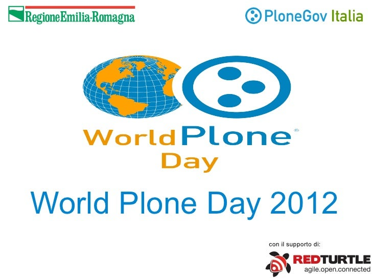 World Plone Day 2012               con il supporto di: